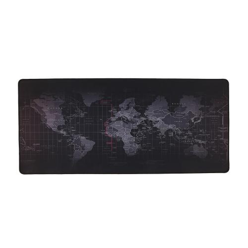 World Map Pattern Gaming Tapete de borracha Base de borracha antiderrapante Mesa de mesa grande Pad Mat Extended Mouse Mat