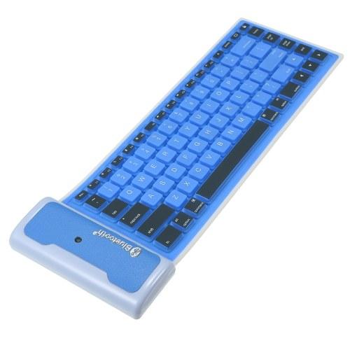 Tastiera ultra sottile BT da 85 tasti Mini pieghevole e portatile antipolvere impermeabile per computer portatile desktop Tablet e telefono cellulare