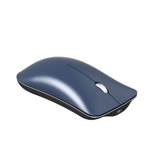 HXSJ T23 Dual Mode Mouse Sem Fio BT 4.0 2.4G Rato Óptico Ergonômico Recarregável Ratos 1600DPI (Azul)