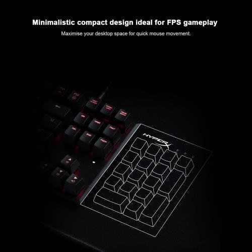 Kingston HyperX Alloy FPS Pro Mechanische Tastatur Cherry MX Gaming Keyboards Hintergrundbeleuchtung LED Anti-Ghosting Voller N-Key Rollover Cherry MX Blau