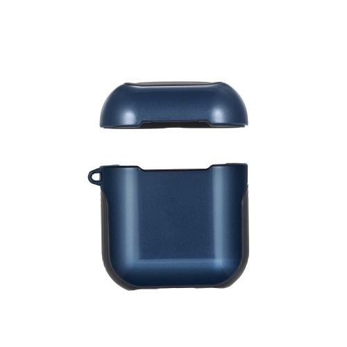 TPU silicone caso fone de ouvido capa protetora para Airpods à prova de choque à prova d'água protetor para Apple AirPods AirPod acessórios superfície lisa (azul)