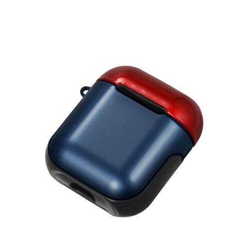 TPU Silicone Fone de Ouvido Capa Protetora para Airpods À Prova de Choque À Prova D 'Água Protetor para Apple AirPods AirPod Acessórios Superfície Lisa (Vermelho & Azul)