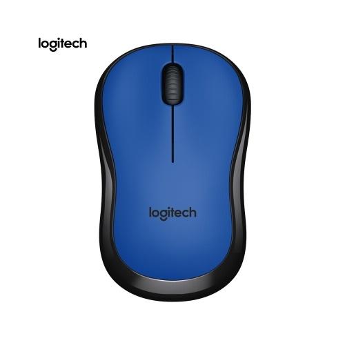 Logitech M220 Беспроводная мышь Wifi Эргономичная бесшумная мобильная компьютерная мышь с приемником 2.4G Blue