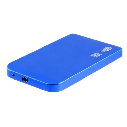 2.5インチUSB3.0 SATA SSD HDDハードドライブボックス5Gbps 3TB USB3.0 SATAポータブルハードドライブボックス(青)