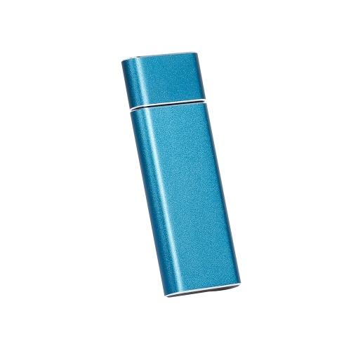 USB 3.0 bis M.2 NGFF SSD-Gehäuse Solid State Drive SSD-Gehäuse aus Aluminiumlegierung Tragbares U-Festplatten-SSD-Gehäuse Blau