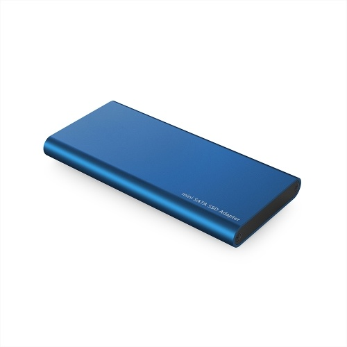 USB3.0 to mSATA SSD Enclosure Portable mSATA Solid State Drive Adapter High Speed USB3.0 SSD Enclosure Blue
