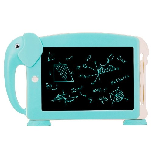 10.5 inch LCD Writing Tablet Digital Electronic Drawing Writing Board Handwriting Paper Drawing Tablet Doodle Pad with 6pcs Learning Cards Blue