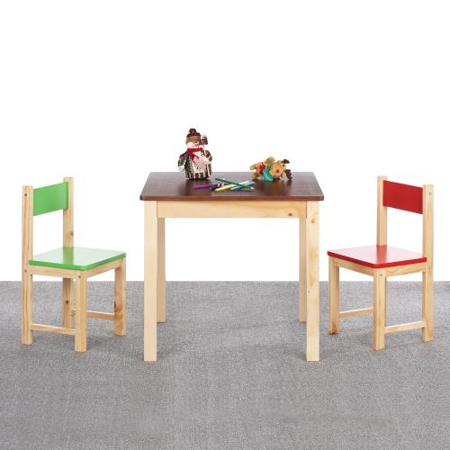 Table et chaises en bois pour enfant IKAYAA