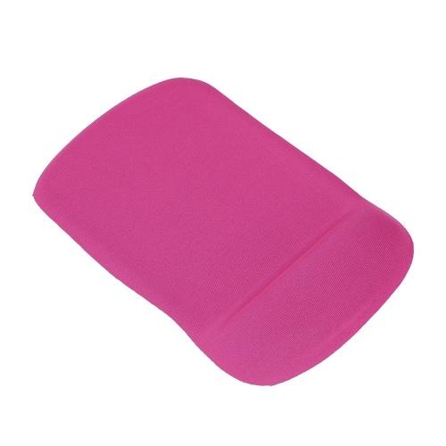 Tapis de souris en silicone tapis de souris gel doux avec repose-poignet soutien confort tapis de souris pour ordinateur portable pc (rose rouge)