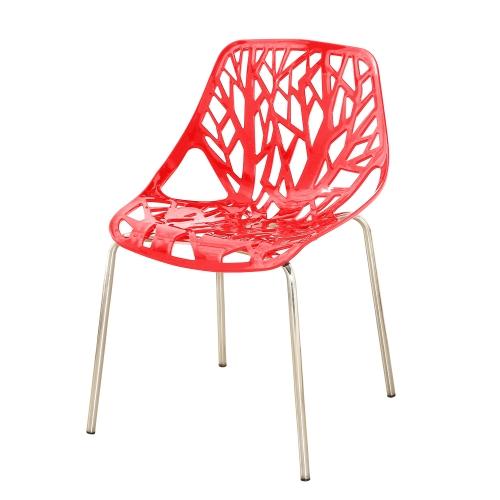 Lot de 2 chaises contemporaines avec pieds chromés