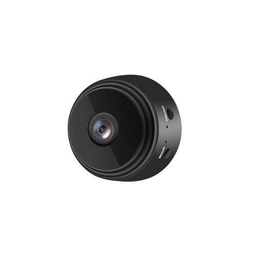 Telecamera A9 Telecamera remota WIFI Telecamera grandangolare per visione notturna di sicurezza domestica Telecamera HD 720P con installazione magnetica nera