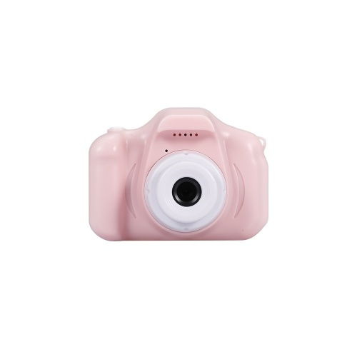 X2 Mini Kids Camera 2 inch HD Color Display Rechargable Mini Camera Video Camera Lovely Camera with 32GB Memory Card Pink