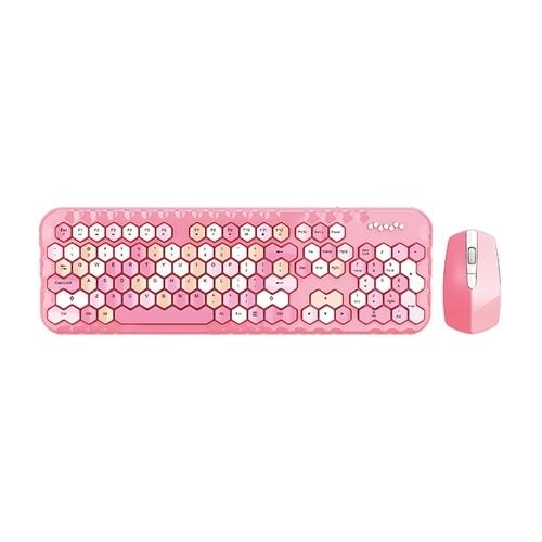Mofii honey plus Keyboard Mouse Combo Wireless 2.4G Mixed Color 104 Key Keyboard Mouse Set with Honeycomb Keycaps