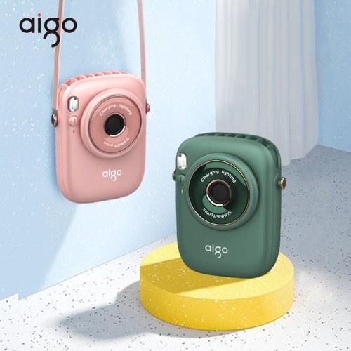 aigo AGF-05 Multi-function Fan Portable Bladeless Hanging Neck Fan with 3-gear Adjustable Wind 1800mAh Battery