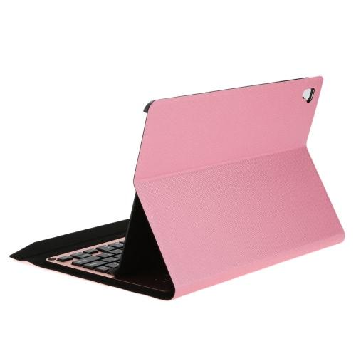 Teclado ultra fino sem fio Bluetooth Folding Folio Couro caso capa Tablet Stand com Auto Sleep / Wake para iPad Pro 9.7