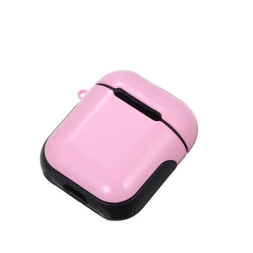 TPU Silicone Fone de Ouvido Capa Protetora para Airpods À Prova de Choque À Prova D 'Água Protetor para Apple AirPods AirPod Acessórios Superfície Lisa (rosa)