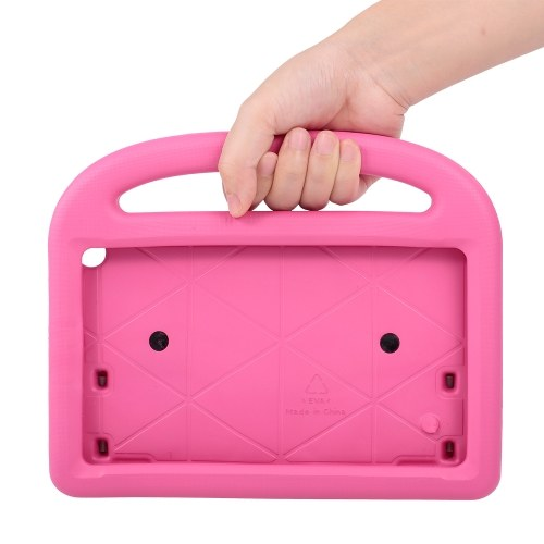 Protective EVA Case for Amazon HD8 2016/2017 Silicone Shockproof Handle Case Screen Protector Kids-friendly (Pink)