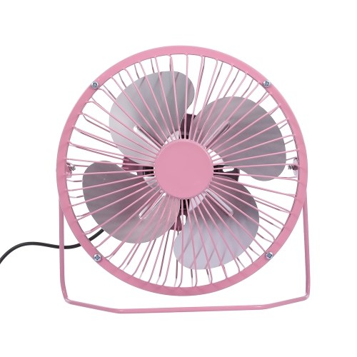 USB Mini Fan Desktop Cooler Fan Quiet Fan Metal Fan for Office and Home Use (Black)