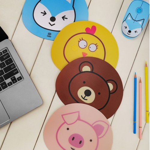 FD E680 2.4G Wireless Mouse Super Cute Cartoon Style ABS Silent Clicks Ergonomic Mute Mice With Mouse Mat Low Power Consumption Pink