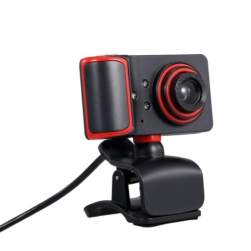 Portable HD Webcam 480P 5MP 30fps Web Camera Built-in Microphone USB Plug & Play for Laptop Desktop