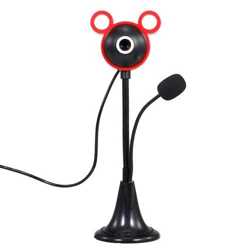 5-мегапиксельная видеокамера высокой четкости 480P Веб-камера 30 кадров в секунду Веб-камера с шумоподавлением Микрофон HD Портативная компьютерная камера USB Plug & Play для настольного ноутбука