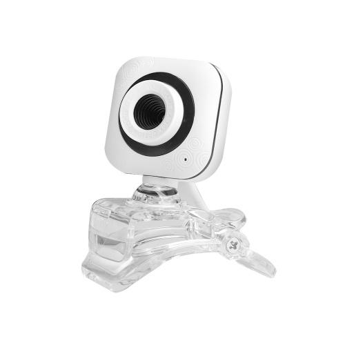 Портативная веб-камера HD 480P 0.3MP 30fps Камера с прозрачным креплением Клип Встроенный микрофон Портативный компьютер Настольный компьютер Веб-видеокамера USB Plug & Play для онлайн-конференций Встреча Видеозвонок Прямая трансляция