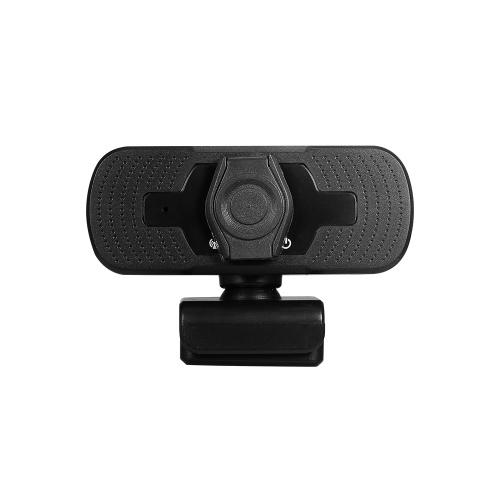 1080P HD широкоугольная веб-камера Видеоконференция USB Plug & Play с крышкой объектива и штативом для портативного компьютера ТВ-бокс