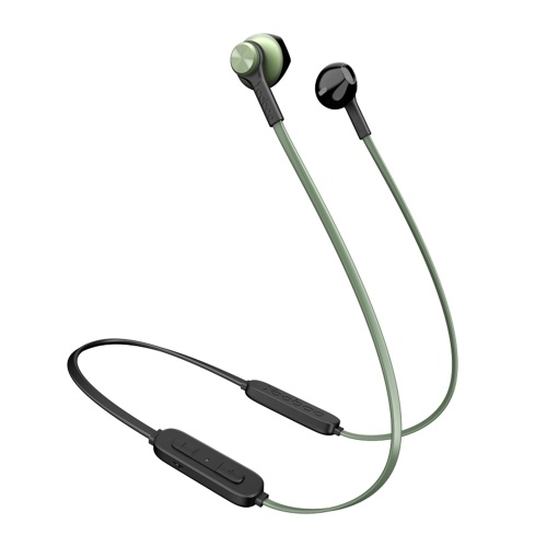Yoobao Wireless Bluetooth 5.0 Headphone Semi-in-ear Neck Hanging Sports Earbud with PET Diaphragm Ergonomic Design Green