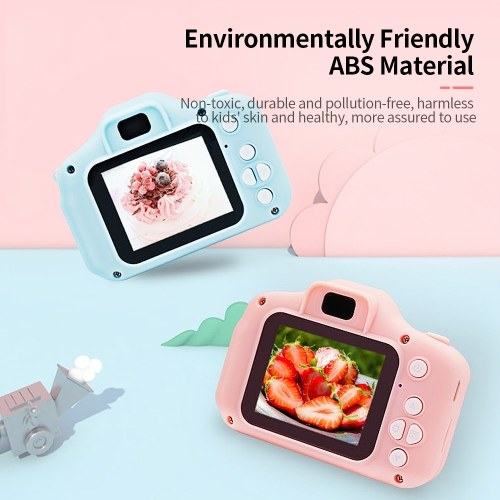X2 Mini Kids Camera 2 inch HD Color Display Rechargable Mini Camera Video Camera Lovely Camera with 32GB Memory Card Green
