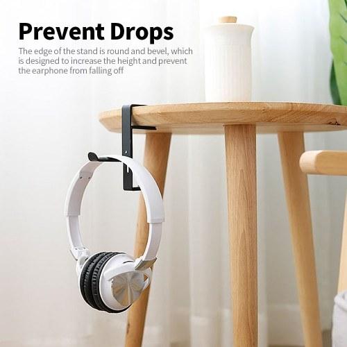 Clip-edge Type Headphone Holder Bracket Hanger Metal Wall Clamp Hook Adjustable Earphone Stand Desktop Mount Red