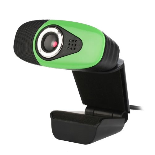 USB2.0 Webcam Clip-on Camera HD 12 Megapixels Camera with Built-in Sound Absorption Microphone Stand for Computer PC Laptop