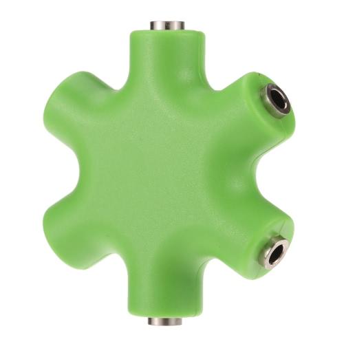 3.5mm 6 portów Słuchawka multi Headphone Adapter słuchawek Splitter