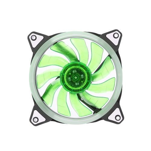 Wentylatory chłodzenia obudowy 120mm z 15 diodami LED Pierścień do chłodzenia komputera Wysokiej wydajności Regulowany wentylator chłodnicy CPU Cooler
