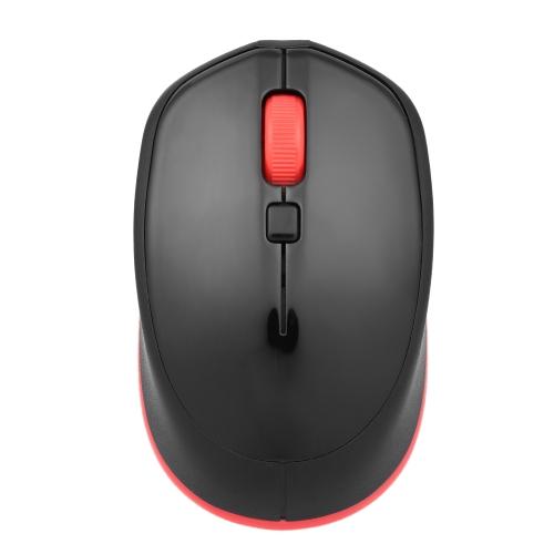 MOTOSPEED BG20 Bezprzewodowa mysz bezprzewodowa BT Przenośna mobilna regulacja poziomu DPI (1000/1600/2400) Optyczna mysz biurowa 4 przyciski na PC Laptop czarna