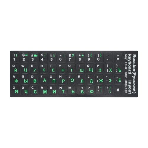 Rosyjska klawiatura naklejki rosyjska i angielska Non przezroczysta klawiatura Wymiana naklejki uniwersalne na laptopa