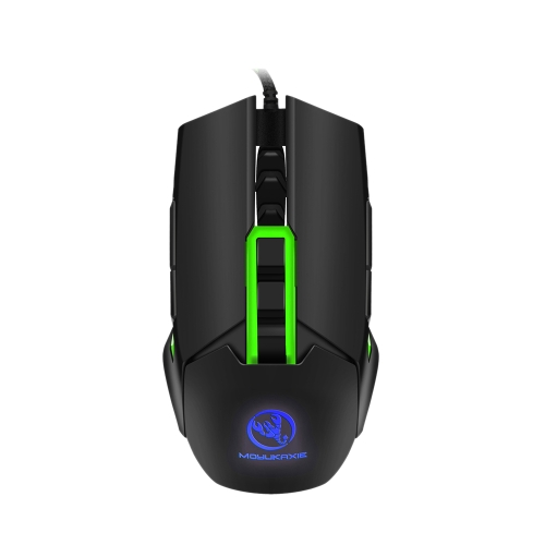 MOYUKAXIE S400 Gaming Mouse USB Wired Mechanical Mouse 3200DPI Programming 9 Buttons Breathing LED Mouse Gamer for PC Laptop Red