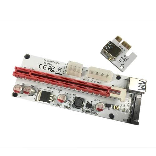 PCI-E Trasferimento da linea video da 1X a 16X Cablaggio della scheda di estrazione della scheda del minatore