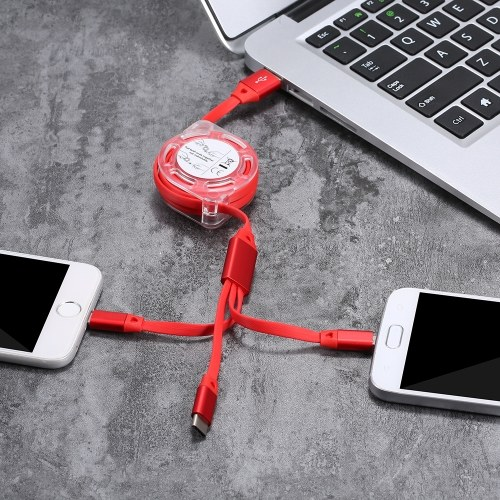 3-in-1 Noodle Design Charging Cable Data Cable