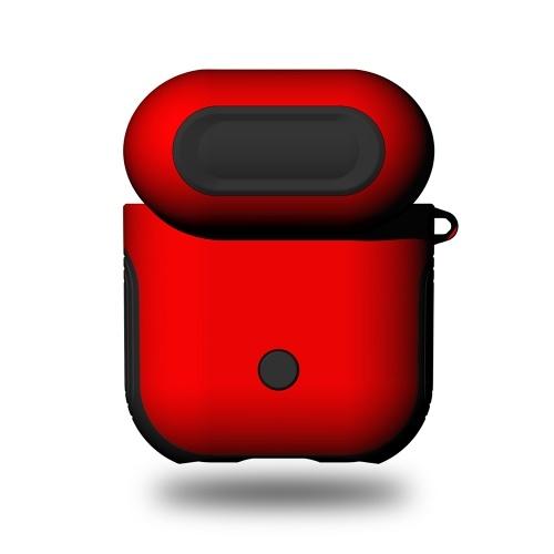 ТПУ силиконовый чехол для наушников Защитный чехол для Airpods Ударопрочный водонепроницаемый протектор для Apple AirPods Аксессуары AirPod Матовая поверхность (красный)