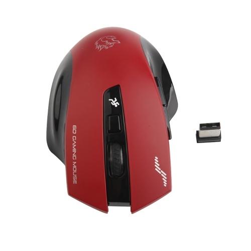 JSF-18 2.4G 3 Регулируемая беспроводная портативная игровая мышь DPI 1600DPI 24 ГГц