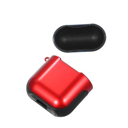 TPU Silicone Fone de Ouvido Capa Protetora para Airpods À Prova de Choque À Prova D 'Água Protetor para Apple AirPods AirPod Acessórios Superfície Lisa (Azul & Vermelho)