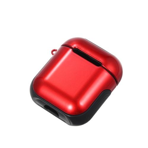 TPU Silicone Fone de Ouvido Capa Protetora para Airpods À Prova de Choque À Prova D 'Água Protetor para Apple AirPods AirPod Acessórios Superfície Lisa (Vermelho)