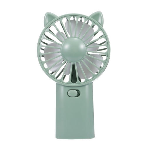 USB Mini Fan Handhold Fan Summer Cool Fan Rechargeable Fan (Green)
