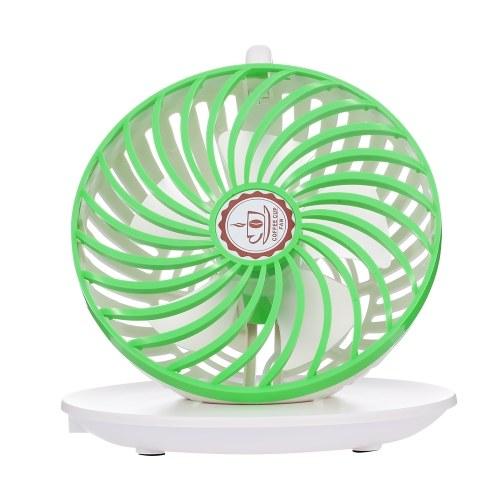 USB Coffee Cup Fan Mini Ventilatore estetico Ventilatore fresco per uso ufficio / casa (verde)