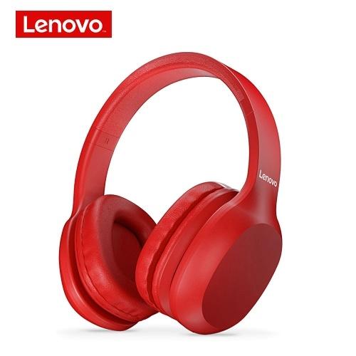 Cuffie wireless Lenovo HD100 BT BT5.0 Cuffie stereo da gioco con eliminazione del rumore Cuffie per giochi per PC portatili Telefono rosso
