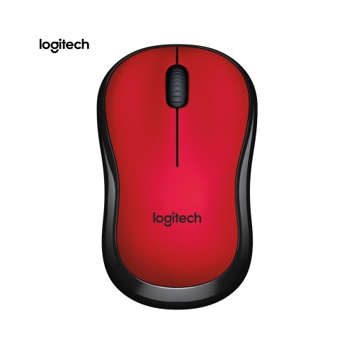 Logitech M220 Wireless Wifi Mouse Ergonomic Silent Mobile Computer Mouse with 2.4G Receiver Red C8695R