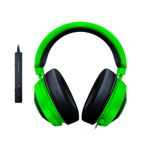 Razer Kraken Tournament Edition Gaming Headset Headphone Earphone THX Spatial Audio Full Audio Control Cooling Gel Game/Chat Balance with USB Dongle Green