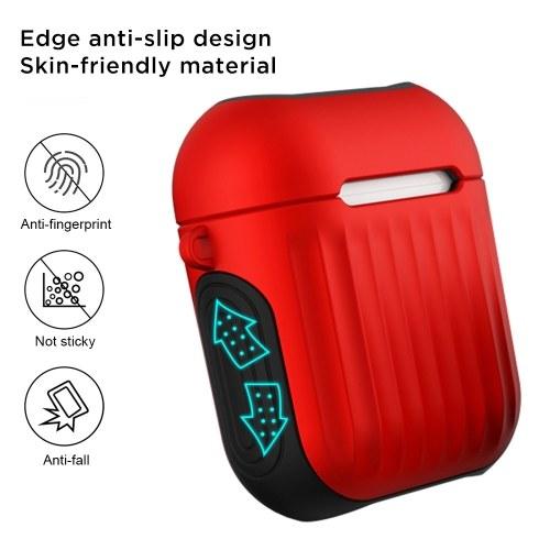Airpods Защитный чехол для AirPods 1 Проводной силиконовый чемоданчик 2-в-1 Творческий противоударный противоударный защитный чехол фиолетовый фото