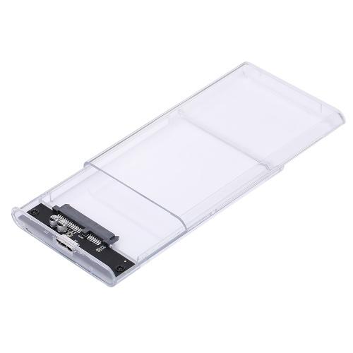 2,5 '' USB3.0 Transparentes Festplattengehäuse Tragbares HDD-Gehäuse für Hochgeschwindigkeitsübertragung für 2,5 '' 7-9,5 mm SATA-Festplatte
