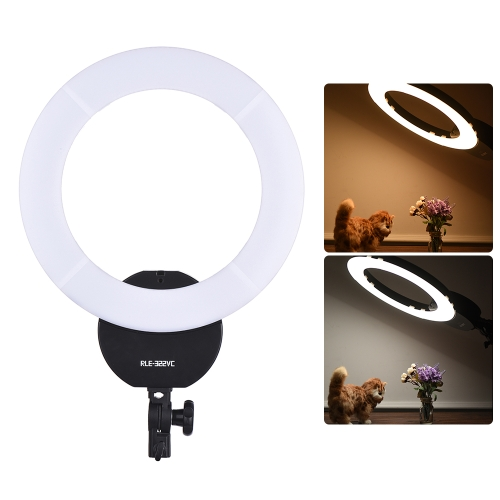 16 Inch LED Video Ring Light Dimmable Fill-in Light Lamp 32W 3000K-5600K with White Filter Carry Bag for Camera Studio Portrait Ph